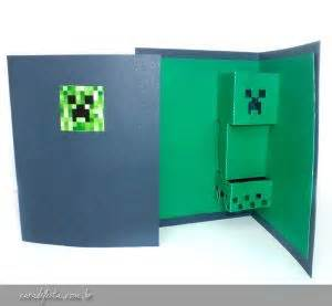 minecraft creeper pop up card template creepers pop up and minecraft on
