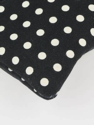 Yves Laurent Black Polka Dot Wood Slides by Yves Laurent Black White Polka Dot Canvas Signature