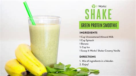 protein juice recipe it works shake green protein smoothie recipe