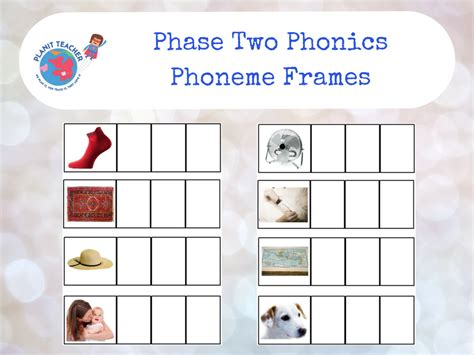 phoneme frames eyfs phase  phonics letters  sounds  planitteacher teaching resources