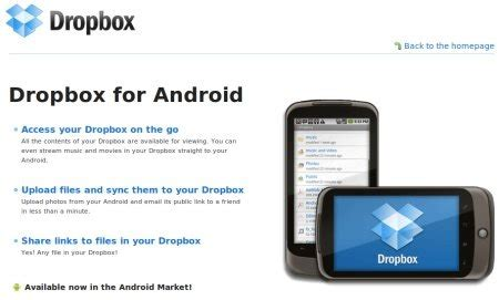 dropbox for android dropbox expande sus servicios esta disponible para y android