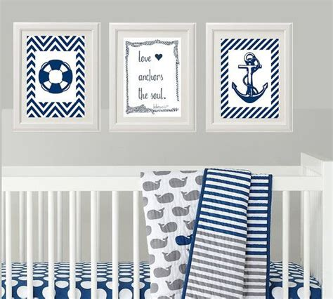 Nautical Wall Decor For Nursery Nautical Baby Nursery Nursery Wall Wall Decor For Baby Boy S