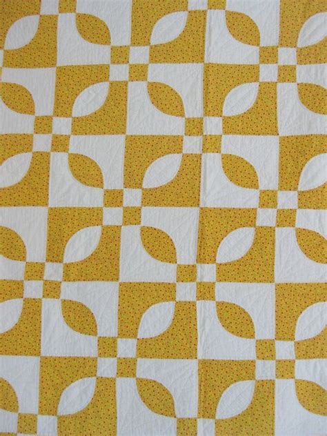 Yellow And White Quilt by Antique Quilt Yellow And White Quilt Handstitched