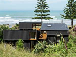 Home Design Blog Nz Low Impact Offset Shed House Is A Modern Beach Home In New