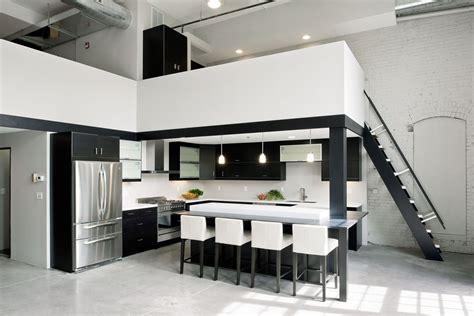 modern minimalist black and white lofts minimalist riverfront loft in pawtucket idesignarch