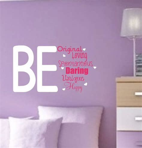wall decor beautiful wall decoration ideas for teenage girl vinyl wall decals teen saying bedroom decor teen