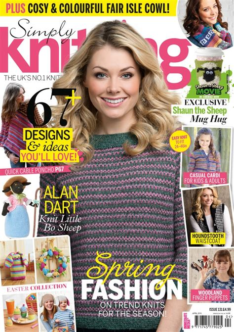 simply knitting simply knitting issue 131 april 2015 martinas bastel