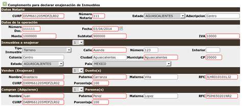 declarasat 2015 enajenacin de bienes inmuebles soporte easysmart crearfacturanotarias