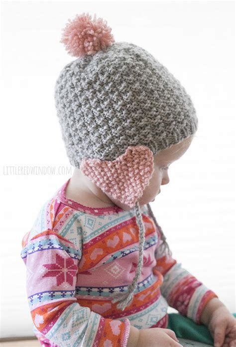 knitting pattern earflap hats for toddlers valentine heart earflap hat allfreeknitting com