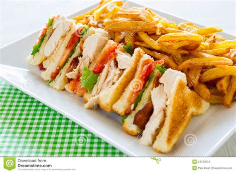 Club Sandwich Meal Stock Images   Image: 24720074