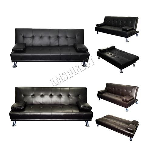 Faux Leather Recliner Sofa Faux Leather Chunky Sofa Bed Recliner 3 Seater Modern Luxury Design Furniture Ebay