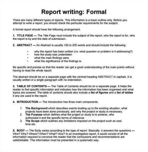 official report writing sle sle report writing format 31 free documents in pdf