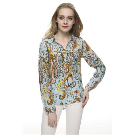 Katarina Blouse By Factory Store aliexpress buy plus size paisley print blouses