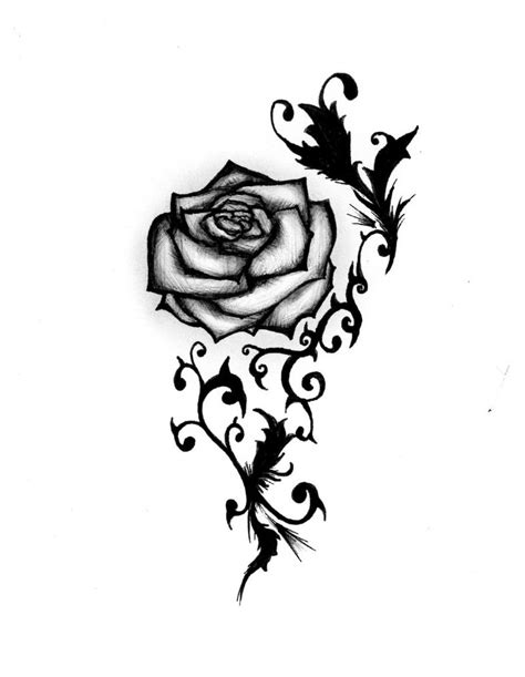 rose tattoo design by maliciousbunny on deviantart