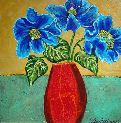Acrylic Painting Of Flowers In A Vase by Paintings Of Flowers In Acrylic Paintings Of Flowers In