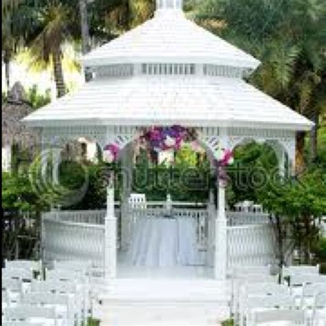 Gazebo decorated for wedding   GAZEBO   Pinterest