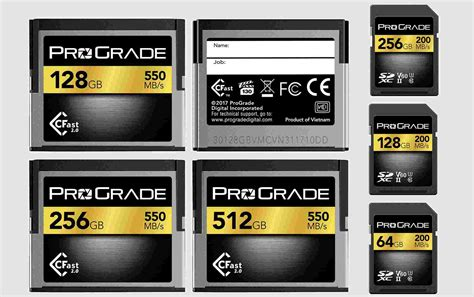 digital memory card prograde digital launches new cfast 2 0 sdxc uhs ii