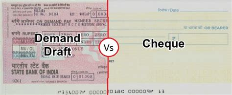 Cheque Drawer Definition by Difference Between Cheque And Demand Draft With