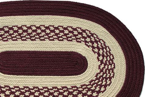 burgundy braided rug boston harbor burgundy braided rug