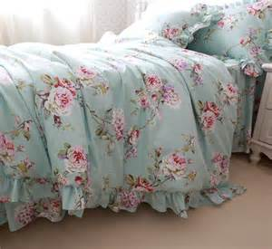 floral bedding aliexpress buy princess ruffled blue floral bedding