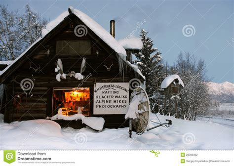 Building Plans For Small Cabins log cabin in the wilds alaska usa stock photography
