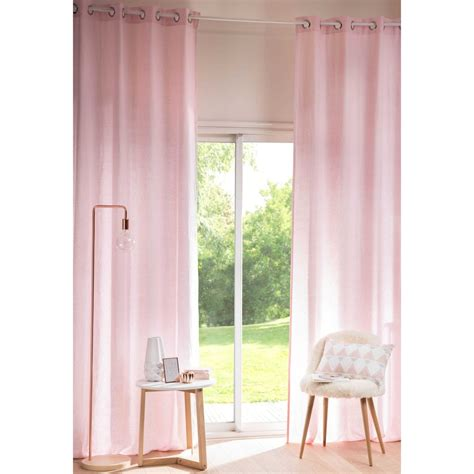 tende con occhielli tenda rosa antico in lino lavato con occhielli 130x300cm