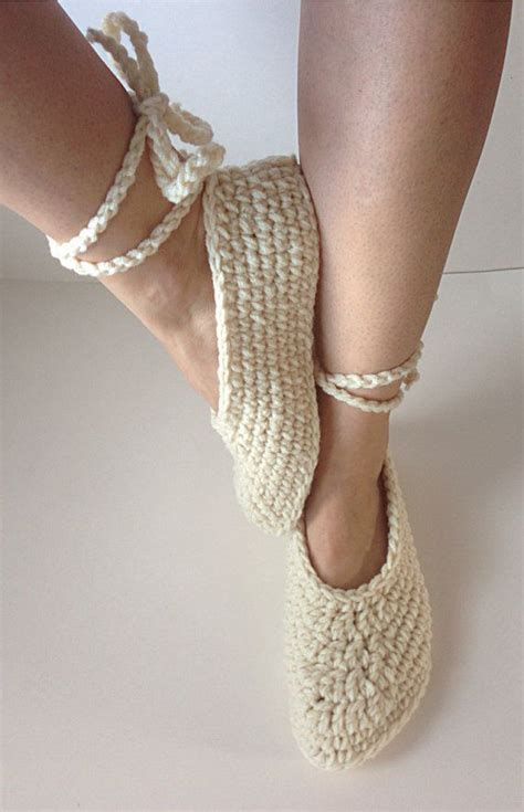 how to crochet ballerina slippers s crochet ballet slippers lace up by