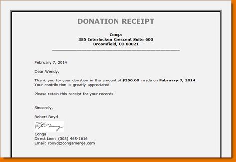 4 Non Profit Donation Receipt Template Printable Receipt Non Profit Donation Receipt Letter Template