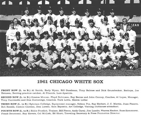 thedeadballera 1961 chicago white sox team photo