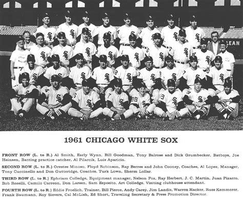 thedeadballera 1961 chicago white sox team photo