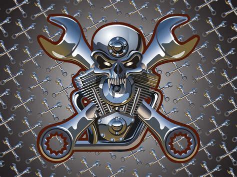 motor skull motorcycle engine skull