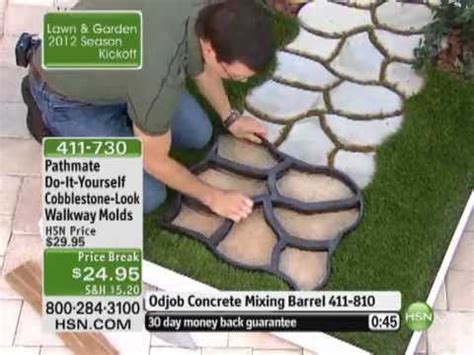 do it yourself cobblestone look walkway molds by pathmate