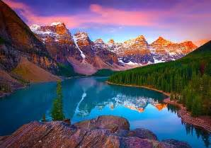 Moraine lake banff canada only a short distance from vulcan