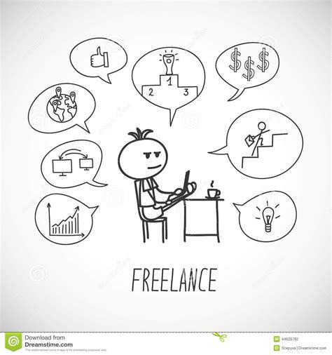Freelancer Stock Vector Image 44626792