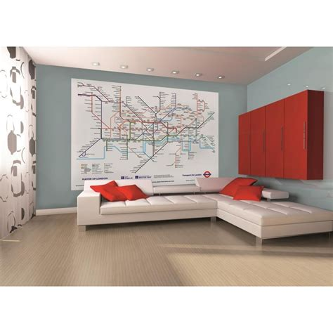 1 wall mural 1 wall underground subway map wallpaper mural 1 58m x 2 32m