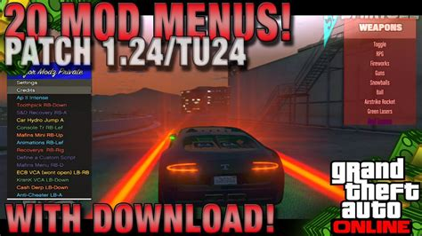 mod gta 5 online ps3 1 20 gta 5 online quot 20 script mod menu quot patch 1 24 online gta