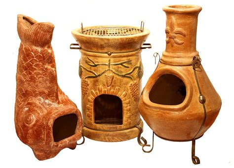 Wood Burning Clay Chiminea Mexican Chimineas Casa Mexico