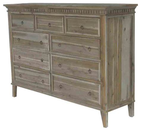 Big Bedroom Dressers Fiona Large 9 Drawer Dresser Traditional Dressers By