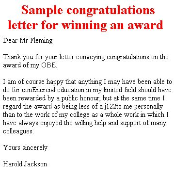 thank you letter to for congratulations thank you letter to for congratulations 28 images sle