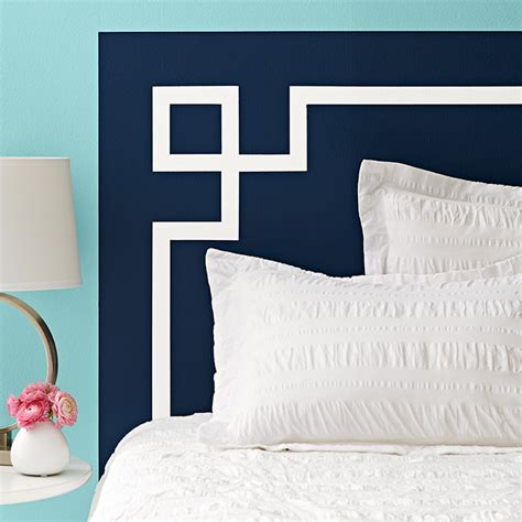 painted wall design headboard