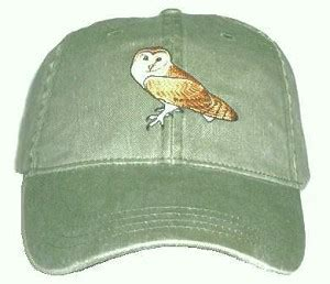 Owl Maxy Azhima 2 embroidered barn owl on a khaki 100 cotton adjustable cap with free shipping get it now