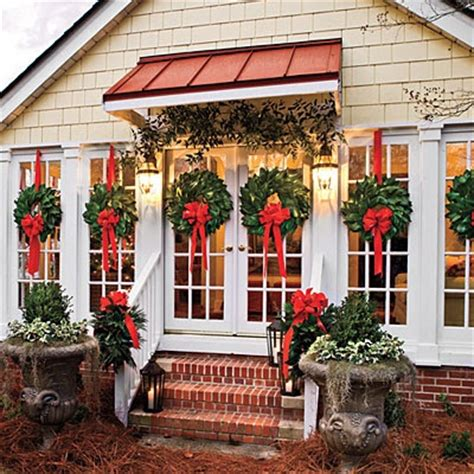 images of christmas wreaths on windows amazing outdoor christmas decorations balsam hill