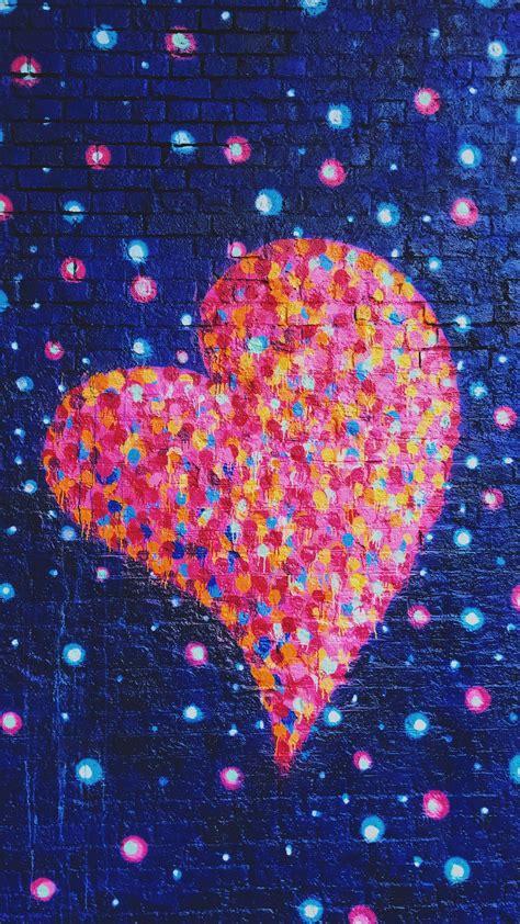 wallpaper love heart graffiti colorful neon hd