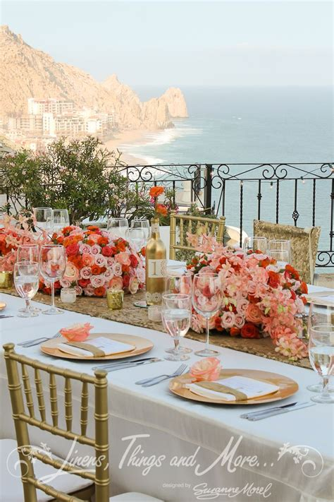 wedding coordination cabo linens things and more wedding cabo gold