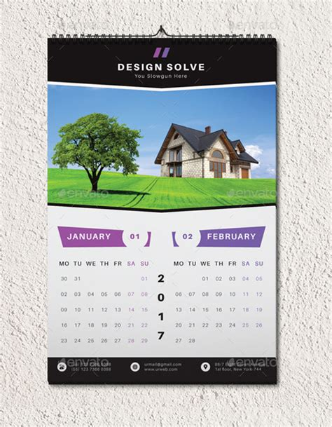 20 wall calendars psd ai indesign eps design