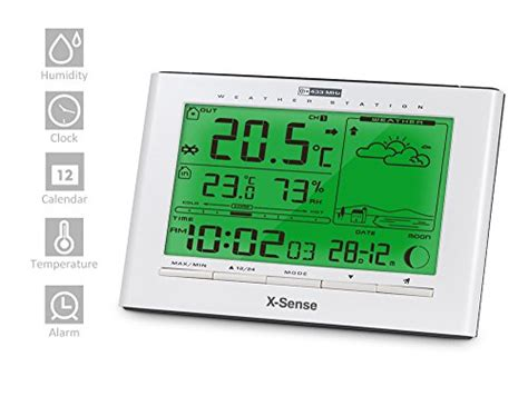 x sense wireless home weather station monitor indoor