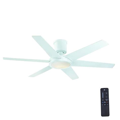 home depot white ceiling fan with remote home decorators collection clermont 52 in led indoor