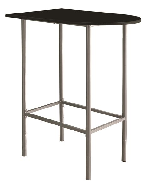 silver metal bar table 2335 black silver metal spacesaver bar table from
