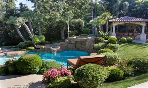 amazing backyard landscapes glamorous backyard landscaping ideas with amazing gazebo and elegant swimming pool