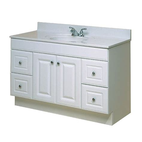Rona Bathroom Vanities Canada Plain White Vanity From Rona Will Spice It Up With A Custom Marble Countertop And Dressing